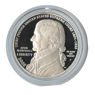 US Commemorative Dollar Proof 2005 Chief Justice John Marshall