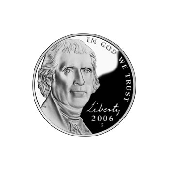 Proof Jefferson Nickel 2006-S Monticello