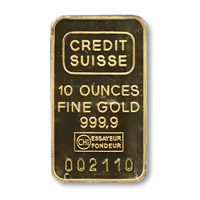 Ten Ounce Gold Bar -Manufacture of our Choice