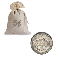 War Nickels Circulated 100 pcs.