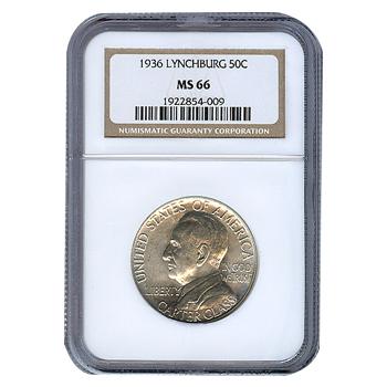 Certified Commemorative Half Dollar Lynchburg 1936 MS66 NGC