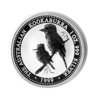 Australian Kookaburra 1 oz. Silver 1999