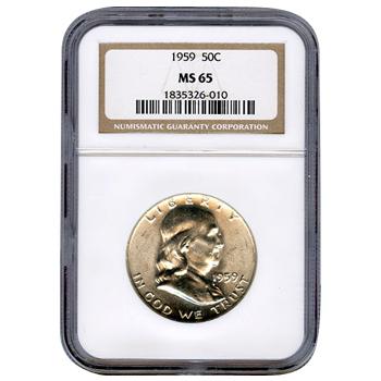 Certified Franklin Half Dollar 1959 MS65 NGC