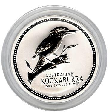 Australian Kookaburra 2 oz. Silver 2003