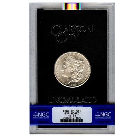 Carson City Morgan Silver Dollar 1882-CC GSA MS63 NGC