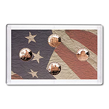 Proof Lincoln Cent 2009-S 4 Piece Coin Set (no box)