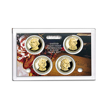 US Presidential Dollar 4pc Proof Set 2007 Without Box