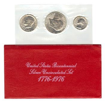 Uncirculated Mint Set 1976-S 3pc