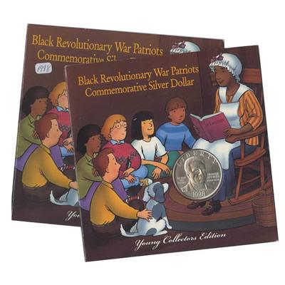 Young Collectors Commemorative Black Patriots Silver Dollar 1998