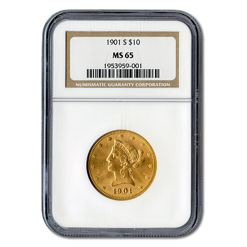 Certified US Gold $10 Liberty MS65 (Dates Our Choice) PCGS or NGC