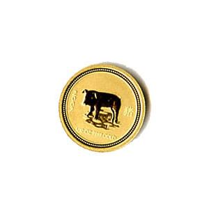 2007 Australia 1/10 oz Gold Lunar Pig