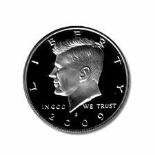Kennedy Half Dollar 2009-S Silver Proof