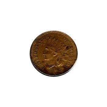 US Indian Head Cent 1866 AU