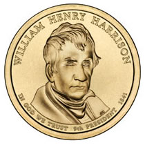 Presidential Dollars William Henry Harrison 2009-D 25 pcs (Roll)