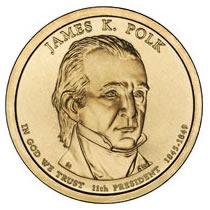Presidential Dollars James K Polk 2009-D 25 pcs (Roll)