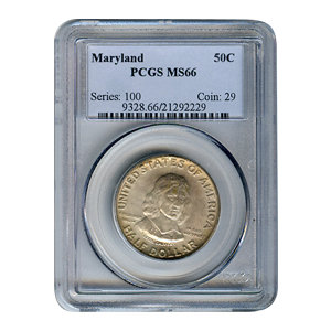 Certified Commemorative Half Dollar Maryland MS66 PCGS