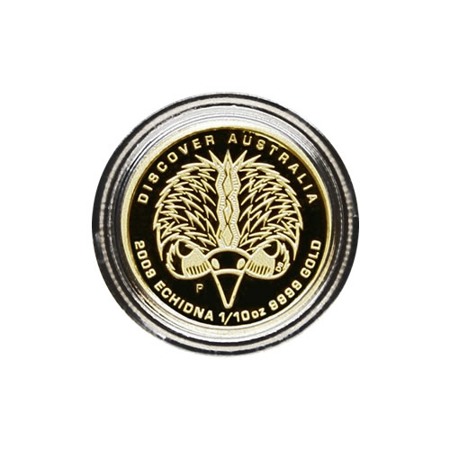 Autralian Perth Mint Gold Dreaming Series 2009 Tenth Ounce Echidna