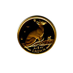 Isle of Man Gold Cat Fifth Ounce 1992