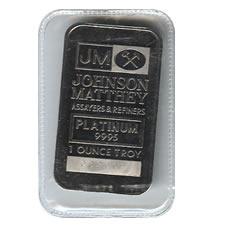Johnson Matthey One Ounce Platinum Bar