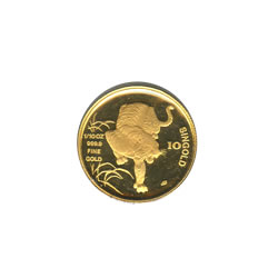 Singapore Gold Tenth Ounce 1986 Tiger