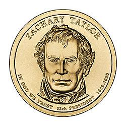 Presidential Dollars Zachary Taylor 2009-D 25 pcs (Roll)