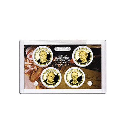 US Presidential Dollar 4pc Proof Set 2010 Without Box