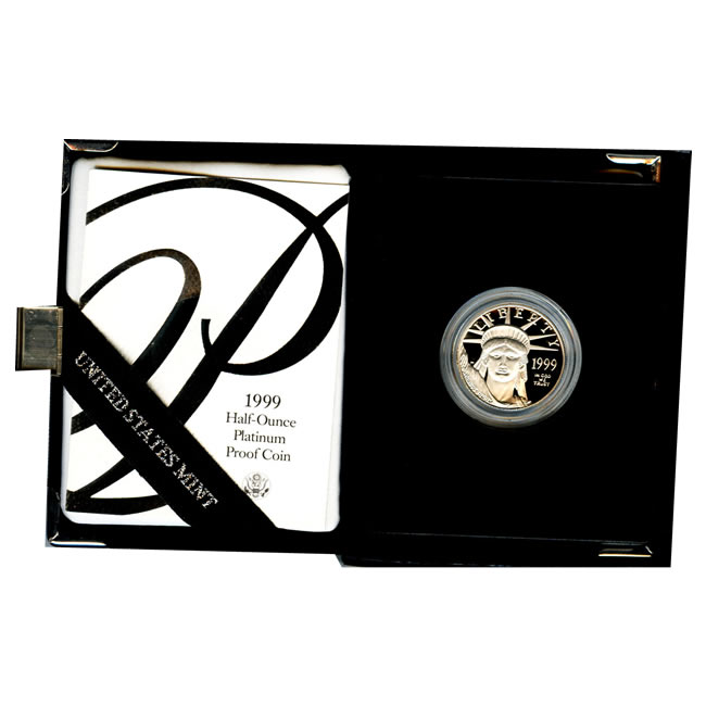 Platinum American Eagle Proof 1999 Half Ounce with Box