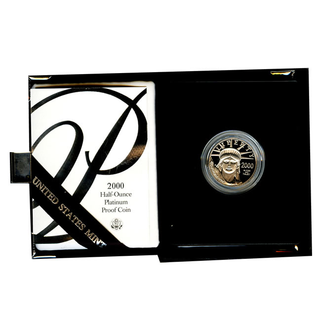 Platinum American Eagle Proof 2000 Half Ounce with Box