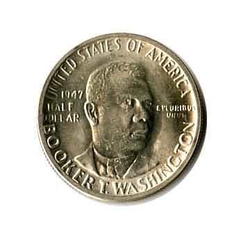 US Commemorative Half Dollar 1947 Booker T Washington BU