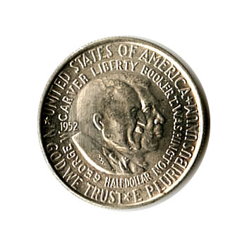 US Commemorative Half Dollar 1952 Washington Carver BU