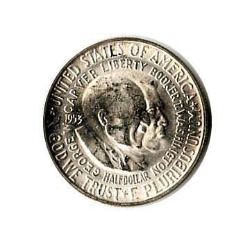 US Commemorative Half Dollar 1953-S Washington Carver BU