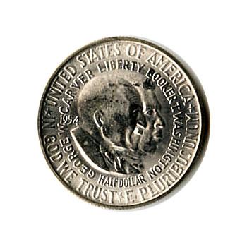 US Commemorative Half Dollar 1954-S Washington Carver BU