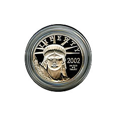 Platinum American Eagle Proof  Quarter Ounce Capsule Only