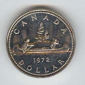 Canada 1972 silver dollar Voyageur