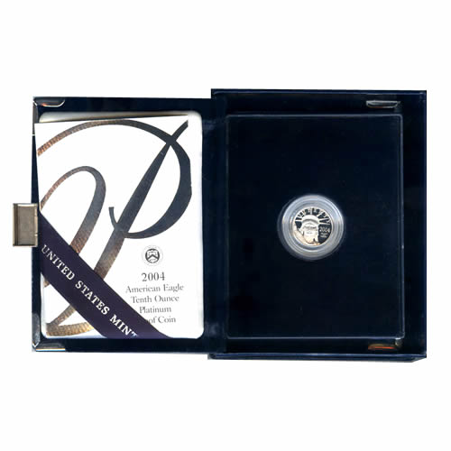 Platinum American Eagle Proof 2004 Tenth Ounce with Box