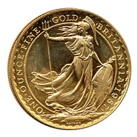 UK Britannia Uncirculated Gold One Ounce (dates our choice)