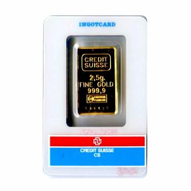 2.5 Gram Gold Bar - Random Manufacturer