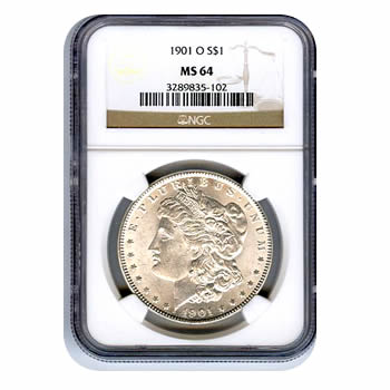 Certified Morgan Silver Dollar 1901-O MS64 NGC