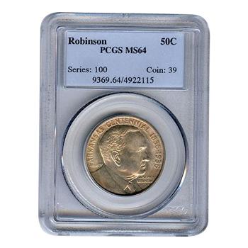 Certified Commemorative Half Dollar Robinson MS64 PCGS