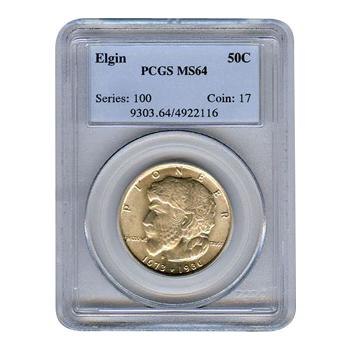 Certified Commemorative Half Dollar Elgin MS64 PCGS