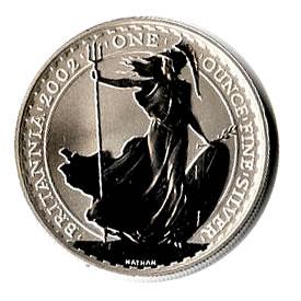 2002 1 oz Uncirculated Silver Britannia 1 oz 2002
