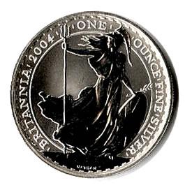 2004 1 oz Uncirculated Silver Britannia 1 oz 2004