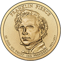 Presidential Dollars Franklin Pierce 2010-P 25 pcs (Roll)
