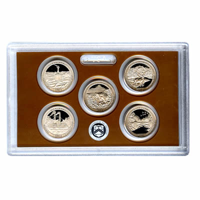 US Proof Set America the Beautiful Quarters Without Box 2011