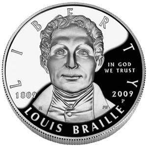 US Commemorative Dollar Proof 2009 Louis Braille