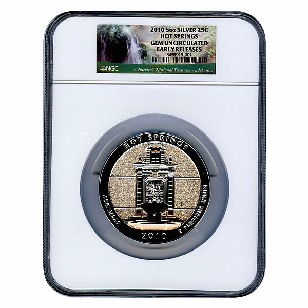 Certified ATB 5 Ounce Bullion NGC Hot Springs GEM UNC Early Release