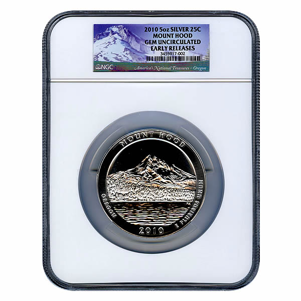 Certified ATB 5 Ounce Bullion NGC Mt Hood GEM UNC Early Release
