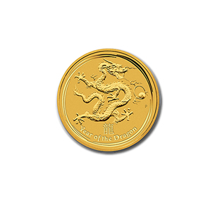 Australian Series II Lunar Gold Tenth Ounce 2012 Dragon