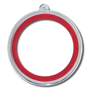Christmas Silver Round Ornament Holder