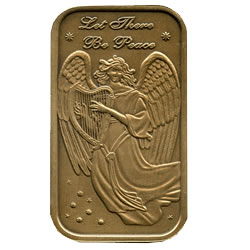 Christmas 2011 Bronze Bar X-2 Angel (with ornament holder)